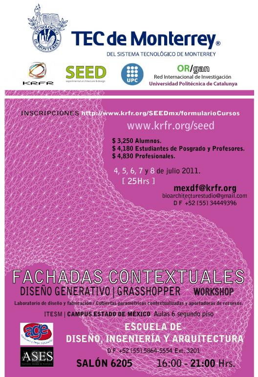 #Grasshopper #Workshop #KRFR #SEED #3C #TecdeMonterrey #Diseñogenerativo