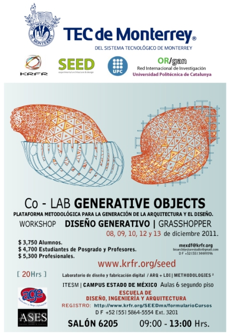 @Grasshopper @Workshop @DigitalFabrication @KRFR @SEED @TECCEM