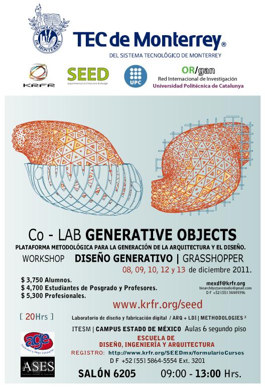 @Grasshopper @Workshop @DigitalFabrication @KRFR @SEED @TECCEM